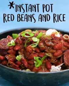 Instant Pot Red Beans And Rice: The classic Creole dish, updated so you can make it in a quarter of the time thanks to the Instant Pot. Crock Pot Recipes, Easy Rice Recipes, Bean Recipes, Cooking Recipes, Cajun Cooking, Ninja Recipes, Gf Recipes, Recipies, Canned Red Beans And Rice Recipe
