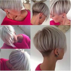 Modern bowl cut with long fringe. - - Modern bowl cut with long fringe. Short Hair Cuts, Short Hair Styles, Corte Y Color, Modern Haircuts, Haircut And Color, Bowl Cut, Trending Haircuts, Funky Hairstyles, Short Wedge Hairstyles