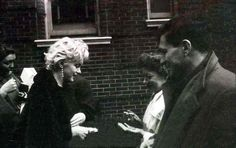 Marilyn in New York with Norman and Hedda Rosten, February 1956. Photo by Hans Knopf.