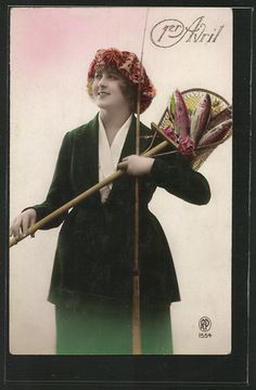 Fashion and fun for a vintage April 1st celebration - fish for April Fools?
