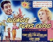 Arthur Lake and Penny Singleton :Lobby card from Blondie Plays Cupid, one of the funniest films in the series