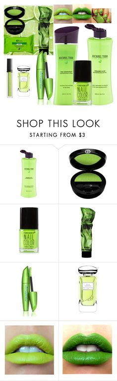 """Go Green!"" by capture-beauty ❤ liked on Polyvore featuring beauty, Michael Todd, Giorgio Armani, Butter London, Forever 21, Aesop, COVERGIRL, Terry de Gunzburg and Garnier"