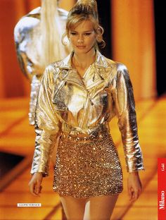 Versace show f/w 1994 feat Claudia Schiffer