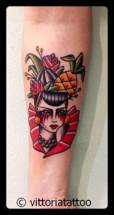 carmen miranda tattoo studio tatuaggi como by vittoriatattoo-tattoos by vittoria in via alessandro volta,49,22100 como Italy http://www.vittoriatattoo.com #tatuaggicomo #tatuaggicarmen #tatuaggi @vittoriatattoo