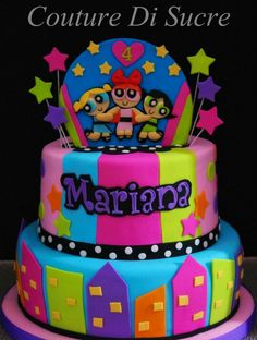 Power puff girls cake