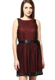 7d5479100fab Buy The Vanca Black Colored Embroidered Skater Dress Online - 4560797 -  Jabong