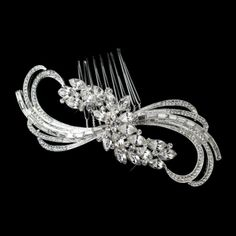 Edna Baguette and Marquise Swirl Cut Rhinestone Design Bridal Hair Comb Wedding Bridal Special Occasion * Check out the image by visiting the link. Bling Wedding, Wedding Headband, Rhinestone Wedding, Hair Comb Wedding, Wedding Hair And Makeup, Wedding Bells, Dream Wedding, Bridal Jewelry Sets, Wedding Hair Accessories