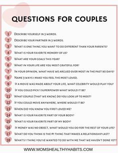 In this article you'll find amaizng and best relationship advice or marriage tips. Questions To Get To Know Someone, Fun Questions To Ask, Getting To Know Someone, Fun Couple Questions, Date Questions, Personal Questions, Would You Rather Questions, This Or That Questions, Question Games For Couples