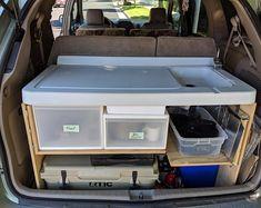 Sleeping Platform Truck Bed | Etsy Minivan Camper Conversion, Suv Camper, Camper Beds, Popup Camper, Truck Bed Camping, Minivan Camping, Tent Camping, Glamping, Camping Outdoors