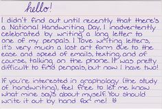 Handwriting to die for