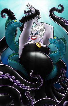The best Disney villain of all time, Ursula! Love her she is just so awesome!