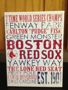 Even though I hate the redsox could do this subway art as a Christmas gift