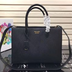 49f3f423a49a7 Amazing Deal on Prada Saffiano Leather Tote Large Black. Discounted price  at USD 432.
