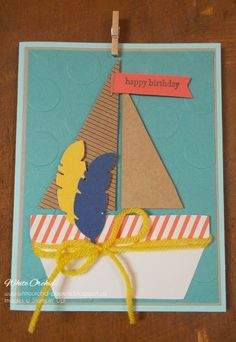 October 2014 Paper Pumpkin turned into sailboat card. www.whiteorchid-paperie.blogspot.ca