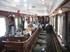 Wagons Lits carriage now a piano bar by Train Chartering & Private Rail Cars