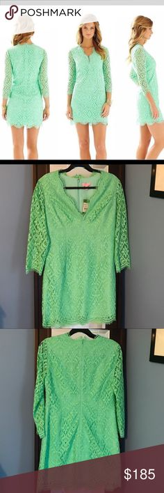 💥price drop💥NWT Lilly Pulitzer Dress! Smoke free This beautiful dress is perfect for a summer wedding or event! Lacy material and a classic silhouette make this a flattering choice for many body types! I never got around to wearing this one and it needs a new home where it will get more love 😊 Comes from a smoke free home! Lilly Pulitzer Dresses
