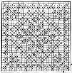 Roses - Her Crochet Crochet Border Patterns, Crochet Curtain Pattern, Crochet Curtains, Granny Square Crochet Pattern, Crochet Tablecloth, Crochet Squares, Crochet Motif, Cross Stitch Patterns, Knitting Patterns