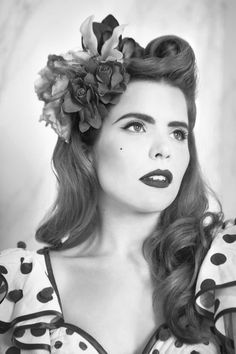 Paloma Faith: a Cuban twist on the retro look - Features, Fashion - The Independent Rockabilly Outfits, Rockabilly Look, Rockabilly Fashion, 1940s Fashion Hair, 1940s Hair, Retro Fashion, 1950s Hairstyles, Vintage Hairstyles, Wedding Hairstyles
