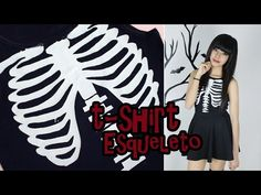 DIY: Camisa Esqueleto   T-Shirt Skeleton - YouTube