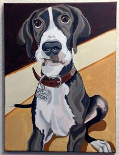 16 best acryl images on pinterest acrylic paintings frame and custom dog portrait acrylic on canvas 12 x 16 by petportraitsbyholly solutioingenieria Gallery