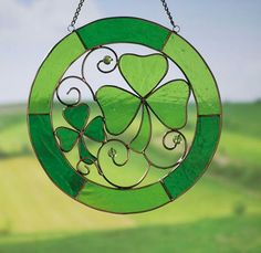 Shamrock Stained Glass Suncatcher - Collections Etc.