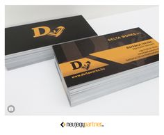 Névjegykártyák a Delta Works Kft. Delta Works, It Works, Card Holder, Cards, Rolodex, Playing Cards, Nailed It, Maps