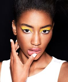 The New (Awesome) Way To Wear Neons #refinery29  http://www.refinery29.com/neon-makeup