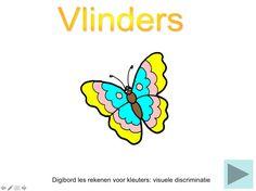 Digibordles Vlinders rekenen