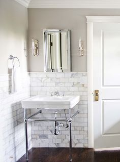 Sink with towel hanging