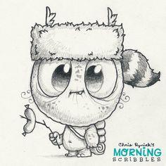 Artist Chris Ryniak - mornings scribbles - cute art