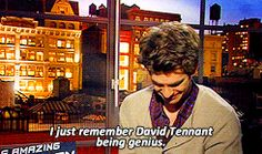 Andrew Garfield recalls his 'Doctor Who' past. screencap from http://gallivantinggeek.tumblr.com/page/11