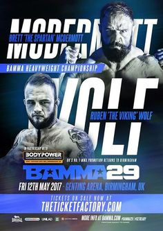 """UK fans - #BAMMA29 is live on """"DAVE"""" at 9pm! #mma #ufc"""