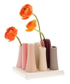 Take a look at this Pink Eight-Space Tube Vase Set by Chive on #zulily today! $24 !!