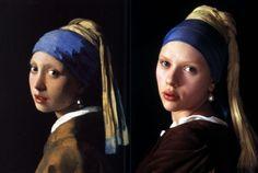 4 versioni della ragazza con l'orecchino di perla