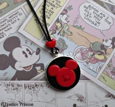 A Creative Princess: Quick & Easy Mickey Necklace