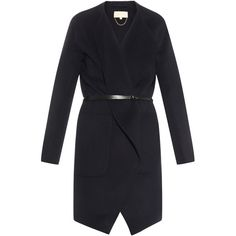 Vanessa Bruno Dungy wool and cashmere-blend coat (17356935 BYR) ❤ liked on Polyvore featuring outerwear, coats, green navy, drape coat, navy wool coat, wool wrap coat, cashmere blend coat y wool cashmere blend coat