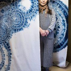 Shibori   Sara Blue Blue