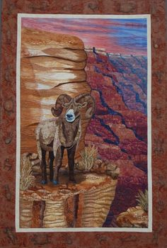Grand Canyon Monarch art quilt by Donna Cherrry.  Road to California most outstanding art quilt 2008