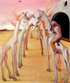 "Salvador Dali ~ ""The Flames, They Call"", 1942"