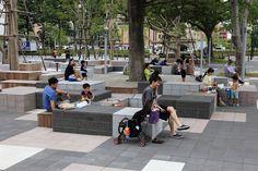 Landscape Architecture Design, Urban Architecture, Architecture Drawings, Contemporary Landscape, Urban Landscape, Public Space Design, Urban Furniture, Modern Landscaping, Urban Planning
