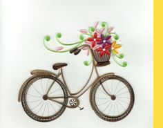 Our Favorite Brands {Quilling Card} Bicycle + Flowers Quilled Card | #Spring #ShopPoeme