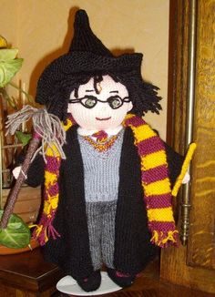 Harry Potter Doll ~ Free Knitting Pattern