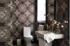 wallpaper and perfect sink