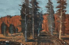 Stanley Morel Cosgrove CAS CGP QMG RCA 1911 - 2002 Canadian  Forest oil on canvas  24 x 36 in  61 x 91.4 cm Canadian Forest, Art Auction, Online Art, Oil On Canvas, Quebec, Painters, Cas, Artwork, Inspiration
