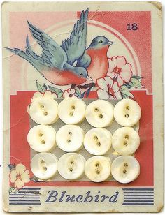 sweet vintage button card
