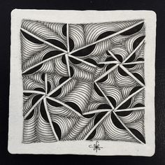 https://flic.kr/p/BYZ94f | Square One: Purely Zentangle® Facebook page - Ixorus | Ixorus, nothing else, just Ixorus using a random string.