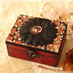 Jewelry Box  Geisha by MinaSmoke on Etsy