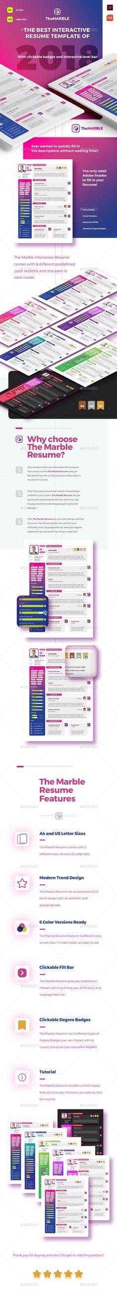 Interactive Cv Templates%0A The Marble Resume