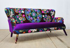 Suzani sofa winter sun by namedesignstudio on Etsy Grey Furniture, Funky Furniture, Furniture Upholstery, Upcycled Furniture, Furniture Makeover, Painted Furniture, Living Room Furniture, European Furniture, Funky Home Decor