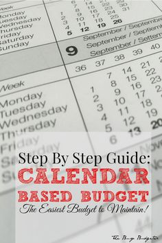 Such an easy, impossible to screw up budgeting system! Just complete one step a week for 9 weeks!